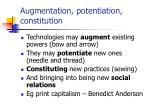 augmentation potentiation constitution