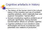 cognitive artefacts in history