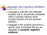language and cognitive artefacts