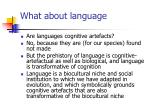 what about language