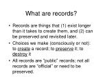 what are records6