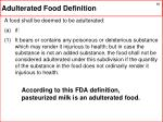 adulterated food definition