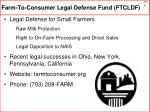 farm to consumer legal defense fund ftcldf