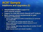 ac97 sample additions and upgrades 2