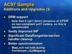ac97 sample additions and upgrades 3
