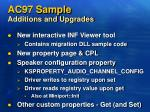ac97 sample additions and upgrades