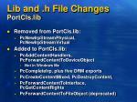 lib and h file changes portcls lib