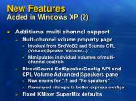 new features added in windows xp 2