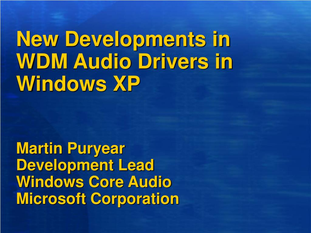 MICROSOFT VIRTUAL AUDIO DEVICE MSVAD DRIVER FOR MAC