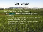post sensing