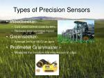 types of precision sensors