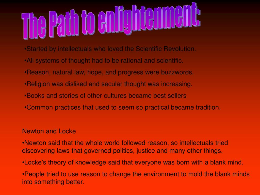 The Path to enlightenment: