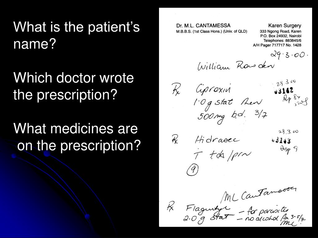 What is the patient's