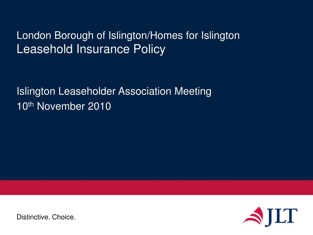 london borough of islington homes for islington leasehold insurance policy l.