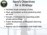navy s objectives for a strategy