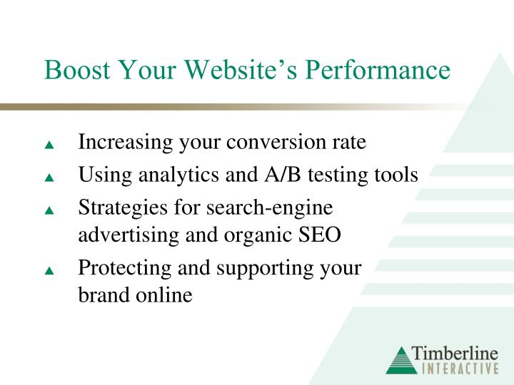 Boost your website s performance
