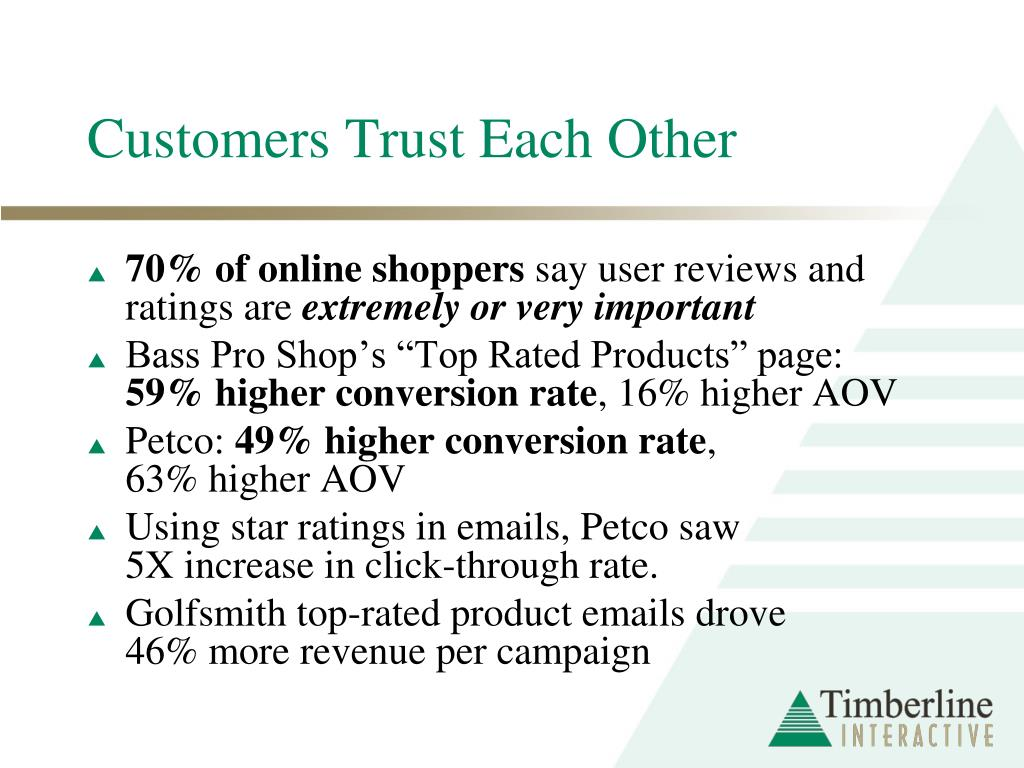 Customers Trust Each Other