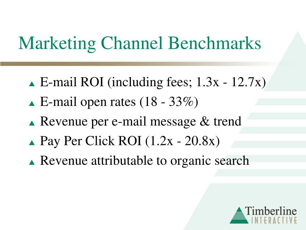 Marketing Channel Benchmarks