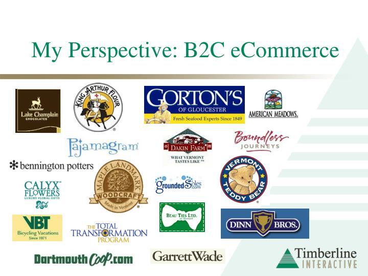 My perspective b2c ecommerce