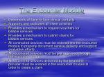 the encounter module