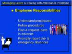 managing leave dealing with attendance problems10