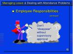 managing leave dealing with attendance problems11