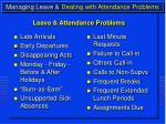 managing leave dealing with attendance problems13