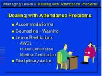 managing leave dealing with attendance problems15