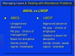 managing leave dealing with attendance problems16