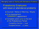 managing leave dealing with attendance problems17