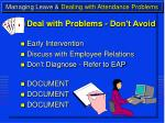managing leave dealing with attendance problems18