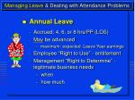 managing leave dealing with attendance problems4