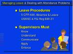 managing leave dealing with attendance problems7