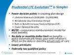 prudential ltc evolution sm is simpler