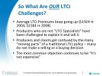 so what are our ltci challenges