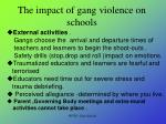 the impact of gang violence on schools
