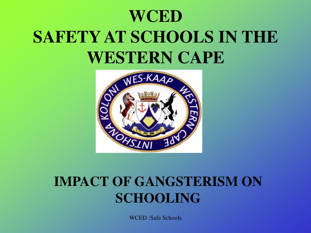 wced safety at schools in the western cape l.