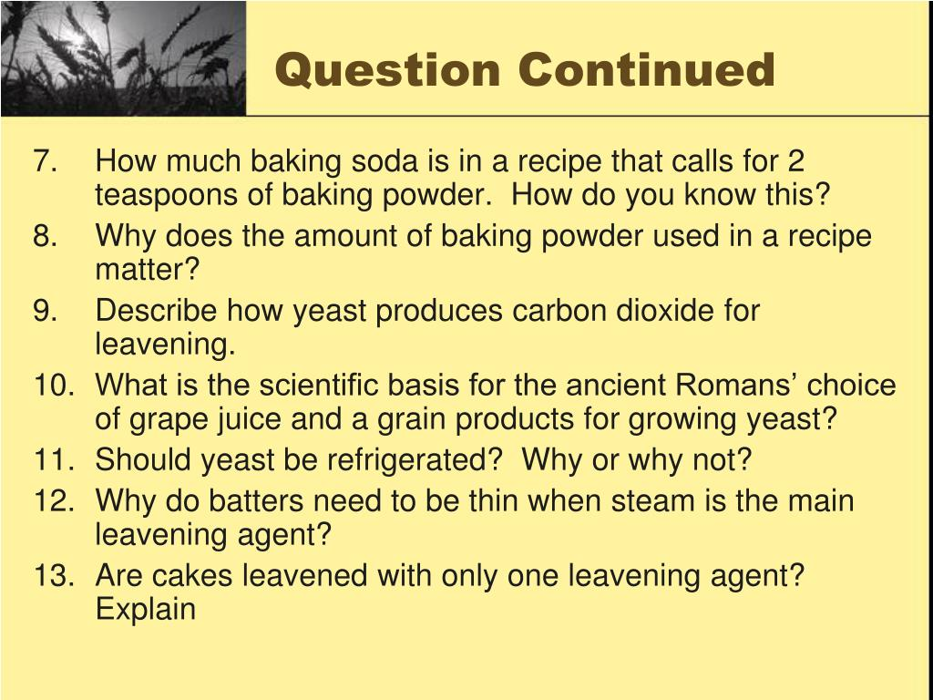 Question Continued