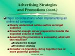 advertising strategies and promotions cont68