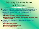 delivering customer service in cyberspace