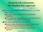 targeted advertisements the doubleclick approach