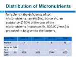 distribution of micronutrients