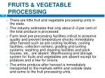 fruits vegetable processing