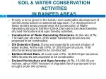 soil water conservation activities in rainfed areas