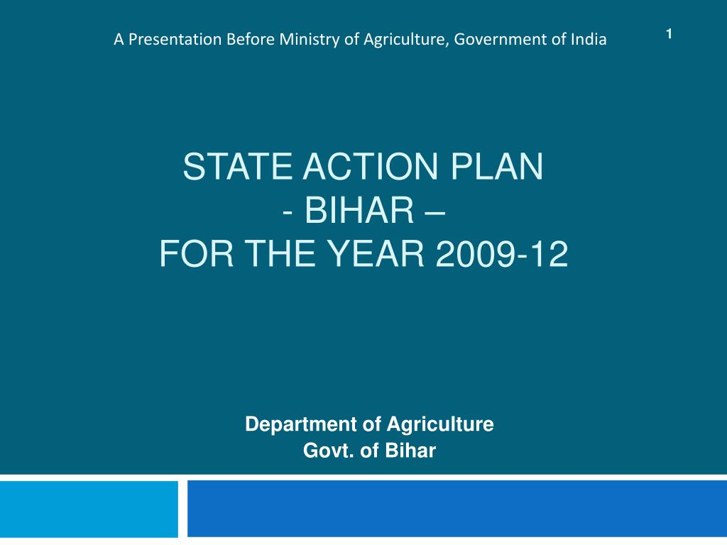 state action plan bihar for the year 2009 12 l.