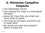 5 minimize campfire impacts16