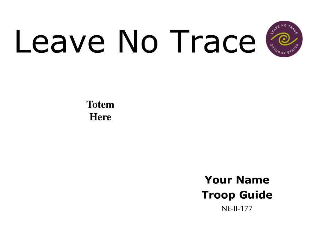 leave no trace l.