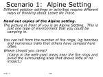 scenario 1 alpine setting