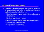 advanced transaction models