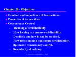 chapter 20 objectives